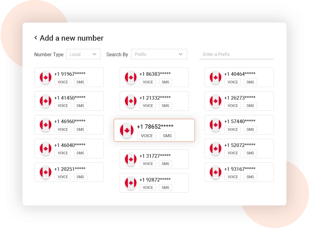 Canada Virtual Phone Numbers