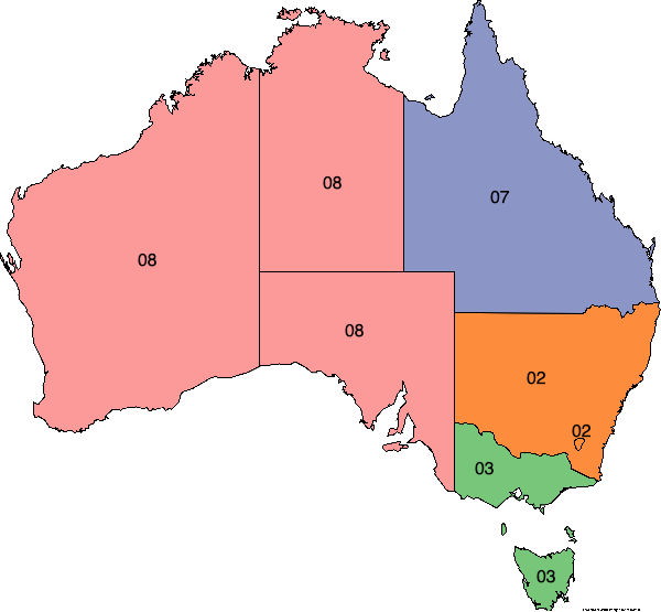 Australia area phone codes