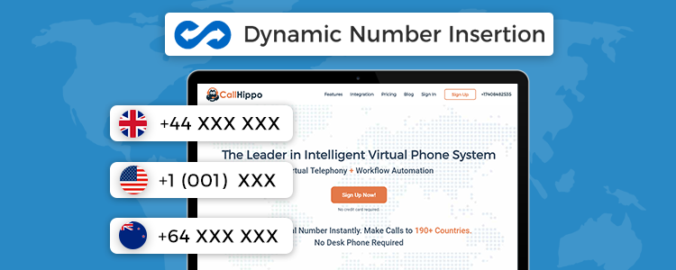Dynamic Number Insertion-CallHippo