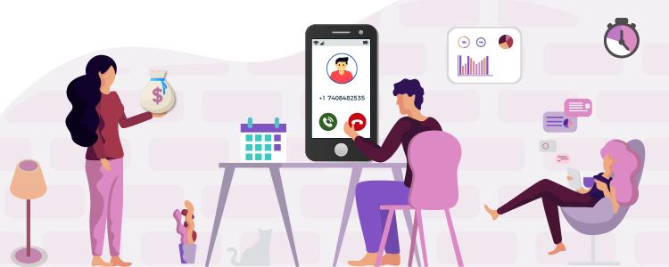 Work From Home with Virtual Phone Number-CallHippo