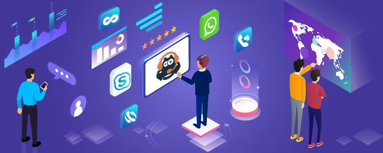 CallHippo over Whatsapp & Skype