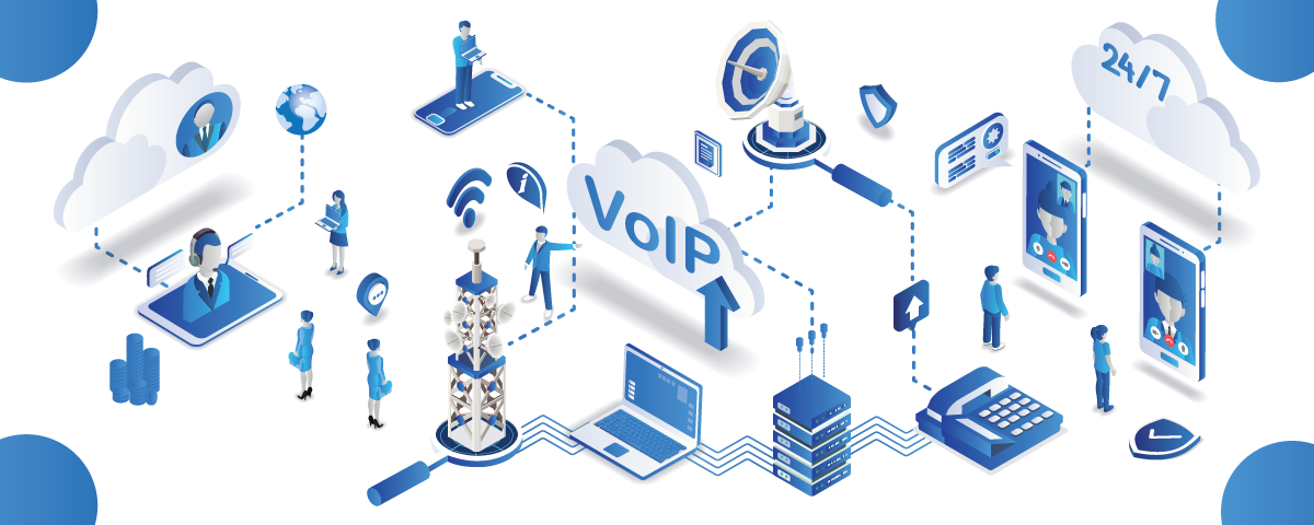 Modern business communication voip and cloud system