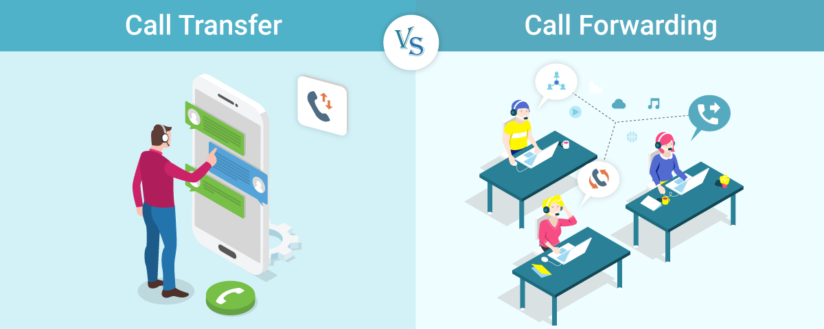 know the difference between call forwarding call transfer