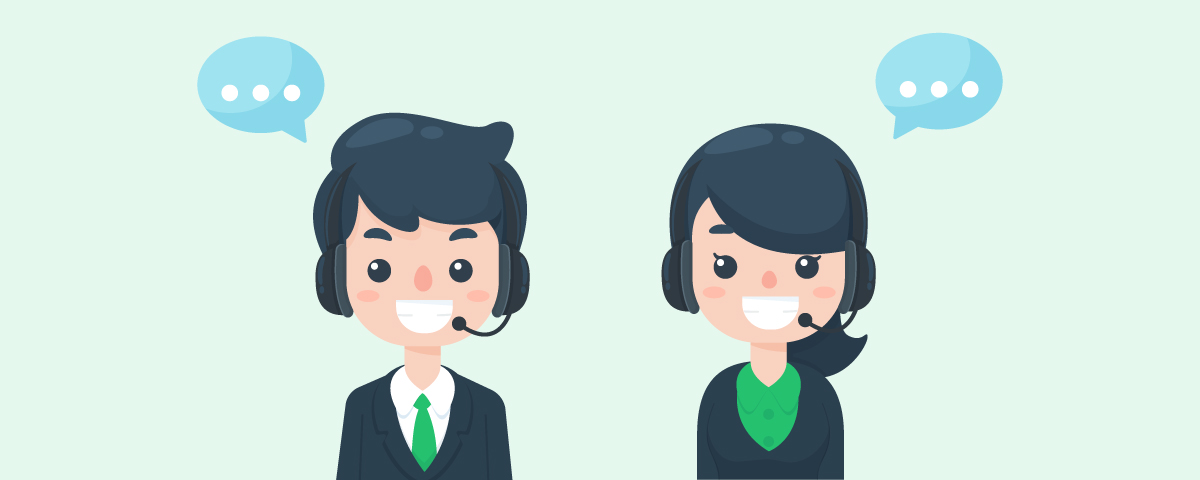 Receiving angry customers in a call center