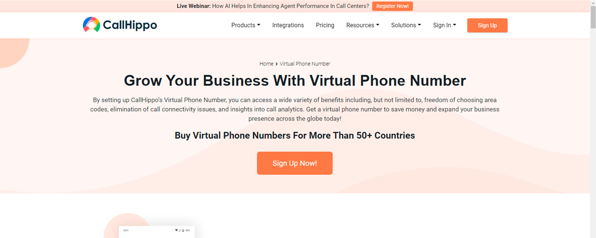 Callhippo Virtual phone numbers providers in India