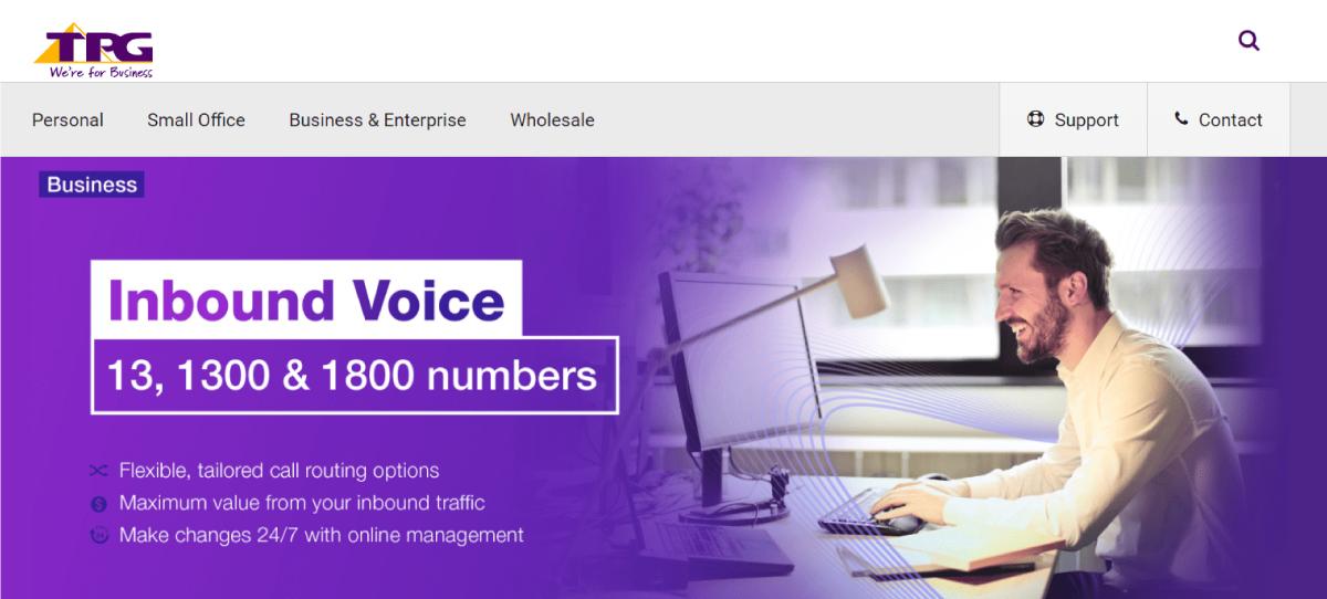 TPG Australian virtual phone number provider