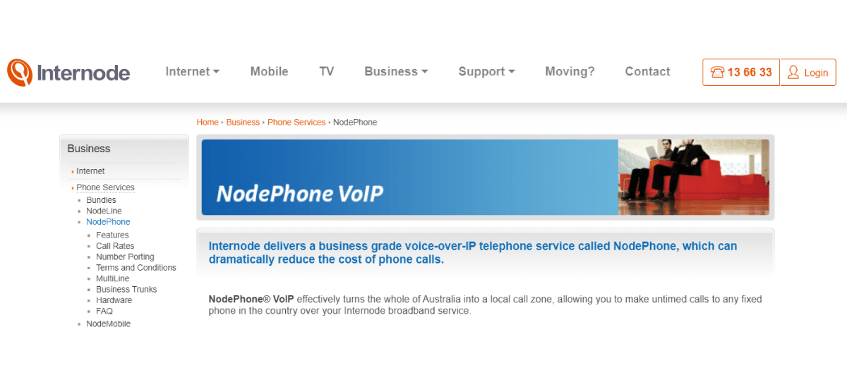 Internode virtual phone system in Australia