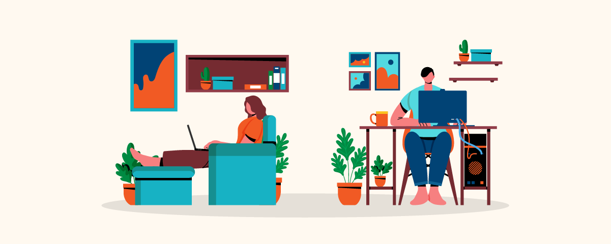 contact center agents working from home