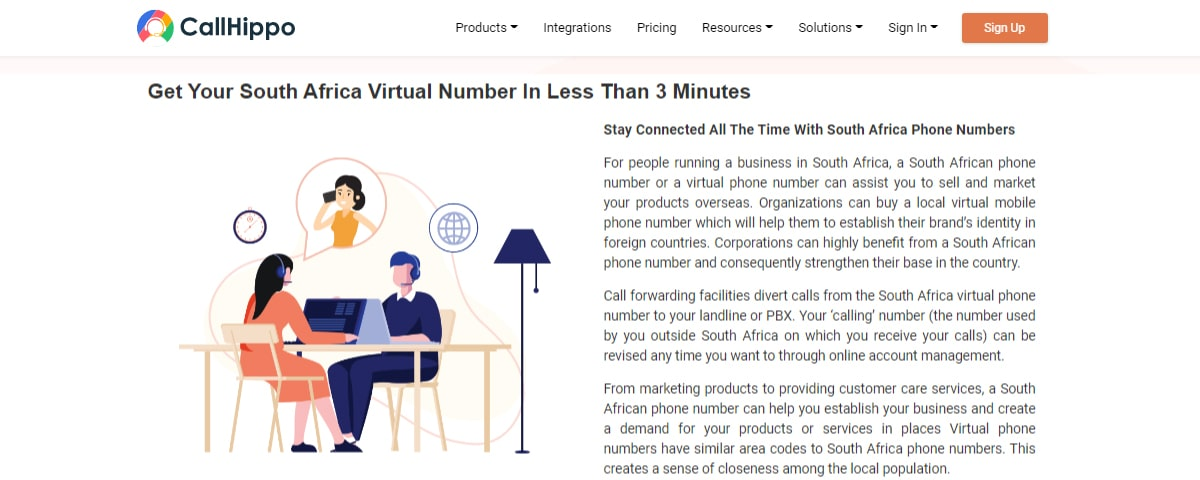 CallHippo Virtual Phone Number Providers in South Africa