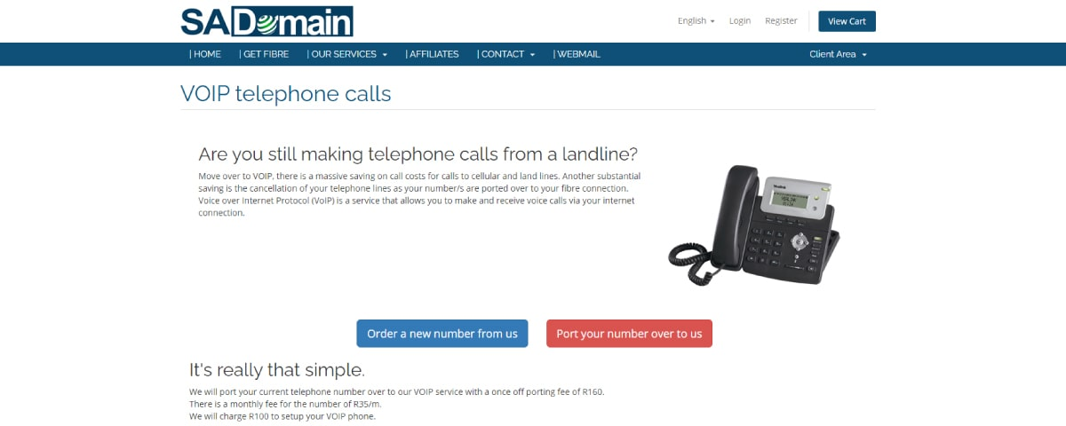 SADomainVirtual Phone Number Providers in South Africa