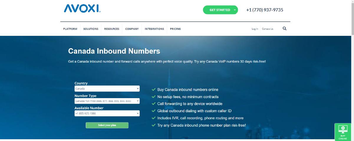Virtual Phone Number Providers in Canada Avoxi