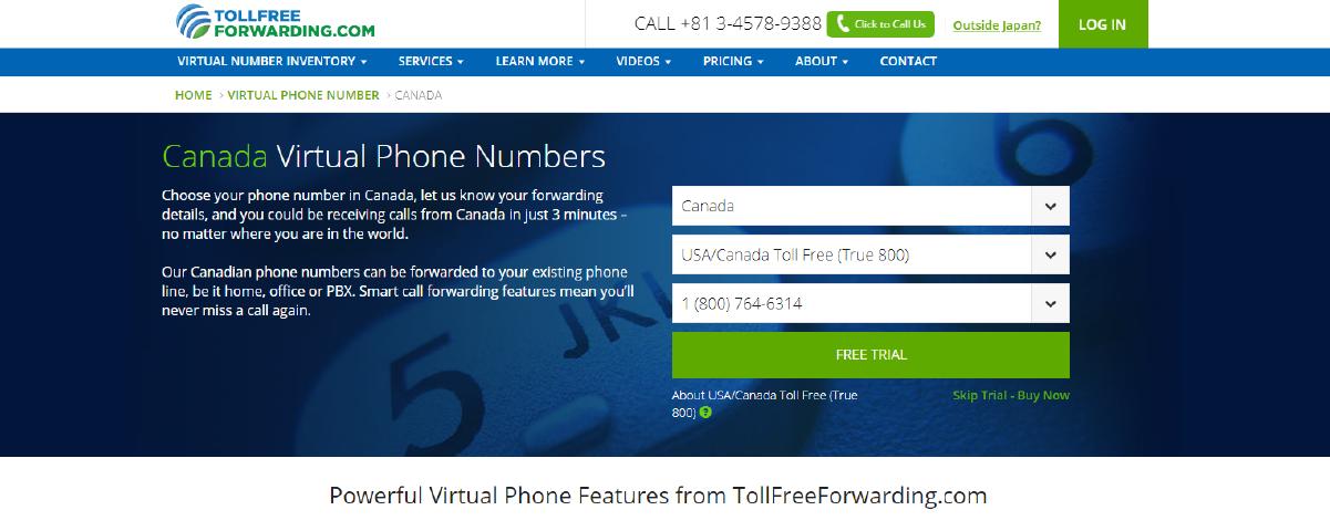 Virtual Phone Number Providers in Canada Tollfreeforwarding