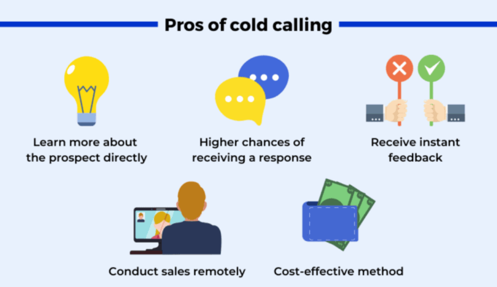 Pros of Cold calling