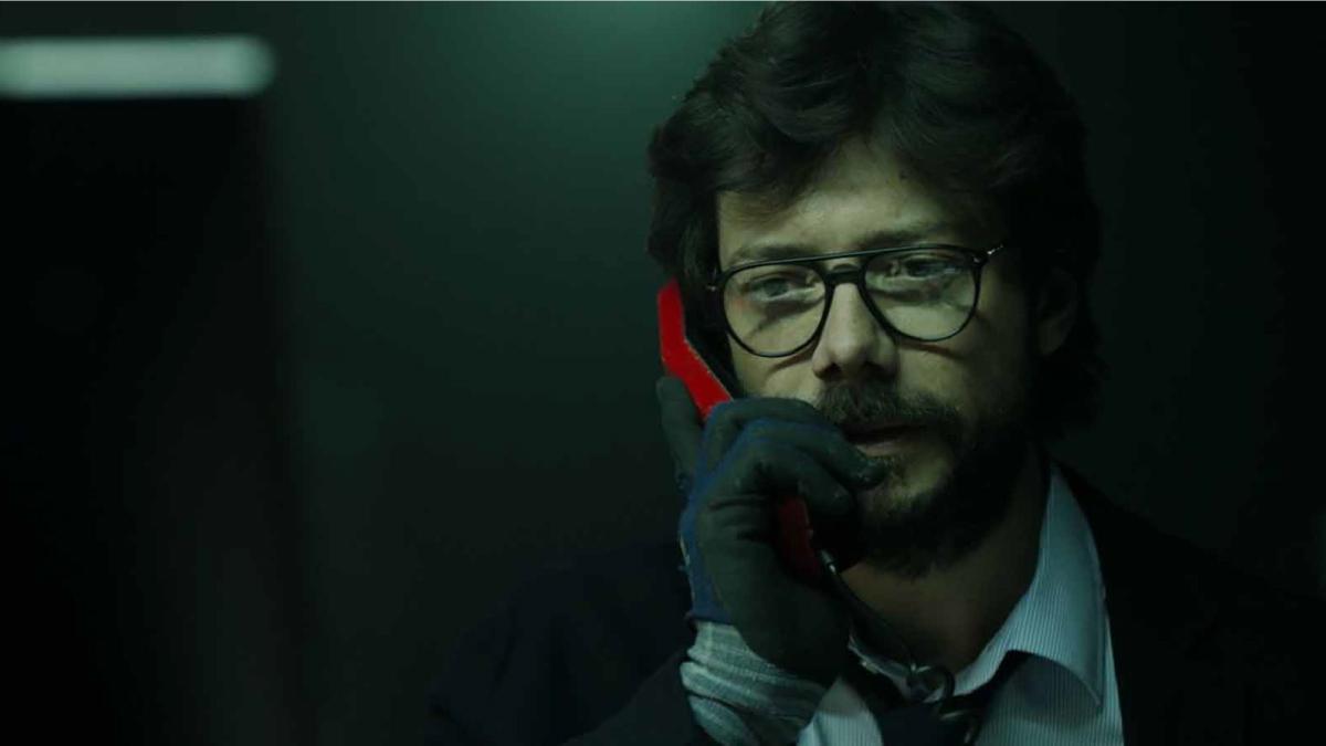 Professor talking on phone
